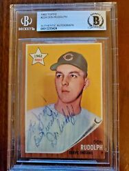 1962 Topps Don Rudolph Autographed, Signed, Auto 224 Beckett