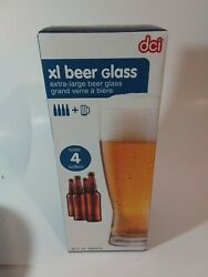 Xl Oversized Giant Beer Glass 53oz Pilsner Man Cave New In Box
