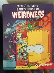 The Simpsons Bart's House Of Weirdness Vintage 90's Pc Game 3.5 Floppy + Guide