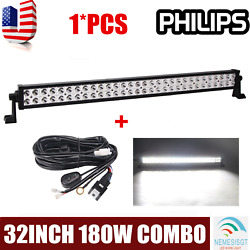 32inch 180w Led Light Bar Philips Combo Ford Offroad Truck Suv Atv 4wd 30+wiring