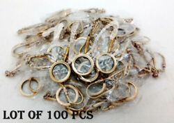 Antique Lot Of 100 Pcs Marine Brass Magnifying Key Chain Ring Handmade Gift