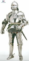 Medieval Gothic German Suit Of Armor With Free Chainmail Halloween Costume