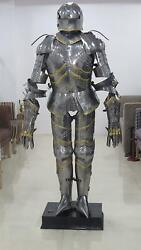 Medieval Full Suit Of Armor Costume Plate Armour Gothic Sallet Armor Suit