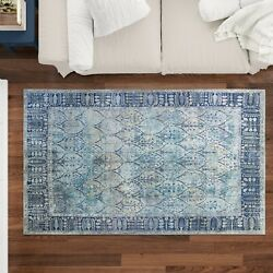 Soft Woven Elegant Printed Machine Washable Area Rug Or Runner All Sizes Colors