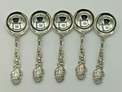 Versailles By Gorham Sterling Silver Set Of 5 Bouillon Soup Spoons 4 7/8