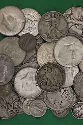 Make Offer 2 Troy Pounds 1964 Kennedy Mercury Walking Junk 90 Silver Coins