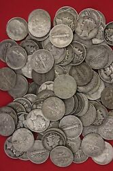 Make Offer Half Standard Pound Mercury And Roosevelt Dimes 90 Silver Junk Coins