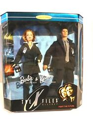 Barbie And Ken - The X-files Gift Set - 1998 Collector Edition With Skully-mulder