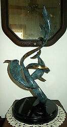 Scott Hanson Bronze Sculpture Dolphins Signed Aloha Nui Loa With Much Love