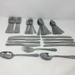 Pfaltzgraff Stainless Flatware Legacy 18/0 Service For 8 With 3 Serving Pieces