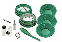 11 Pc Prospecting-mining-panning Kit- 2- Classifiers 3 Gold Pans,+ More