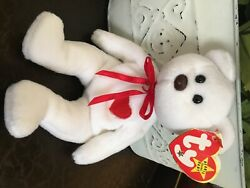 Ty Beanie Babies Valentino '93 Brown Nose Style 4058 Rare-pvc Pellets Errors-
