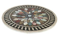 36 Marble Round Dining Table Top Multi Stone Mosaic Interior Home Decors B069