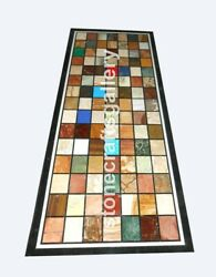 29x58 Marble Dining Table Top Multi Stone Mosaic Inlay Decors Furniture B076a