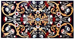 5and039x3and039 Precious Mosaic Floral Inlay Marble Dining Table Top Restaurant Decor B009