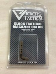 Vickers Tactical Tan Glock 45acp/10mm Gen 1-3 Extended Magazine Release Gmr-002