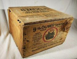 Vintage Antique Wooden Oliver Typewriter No. 9 Shipping Advertising Crate Box