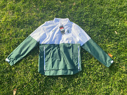 Nike Mens Michigan State Spartans Lightweight Coach's Jacket White Green Size L