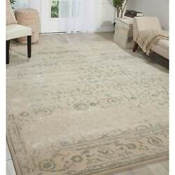 Nourison Opaline Opa11 Area Rug Beige 7and0399 X 9and0399