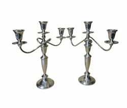Pr. Towle Usa Sterling 3 Branch Candelabra - Converts To Single Candlesticks