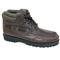 Sperry Mens Top Sider Lug Waterproof Brown Leather Boots Lace Up Chukka Size 8m