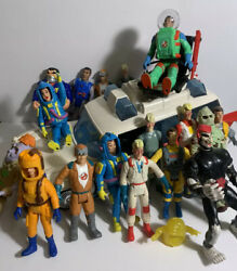 Vintage 1984 Ghostbusters Ecto-1 Kenner Ambulance Car + 18 Figures Ghost Busters