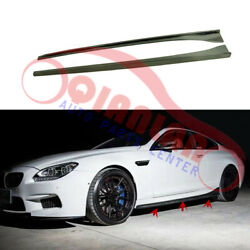 Left+right Side Skirts Carbon Fiber 3d Style 2-door For Bmw M6 F12 F13