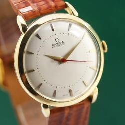 1944and039s Omega 18k Solid Yellow Gold Cal 28-10ra Automatic Menand039s Watch