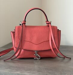 NWT Rebecca Minkoff Stella Mini Satchel Crossbody Leather Bag in Grapefruit $74.00