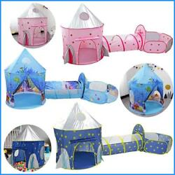 Child Tunnel Spaceship 3 In 1 Tent House Play Toys Foldable Children Crawling