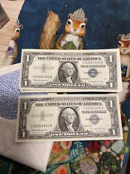 Silver Certificates Uncirculated 1957b Series Of 75