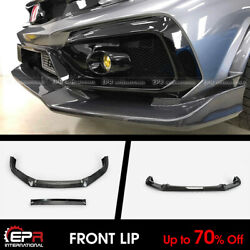 For Honda Civic Typ-r Fk8 17+ Vrsar2 Style Carbon Front Lip With Ic Shroud
