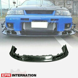 Carbon Glossy As Style Fit For Skyline R33 Gtr Front Bumper Lip Kit