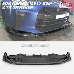 Ts Style Carbon Fiber For Nissan My17 R35 Gtr Front Diffuser Under Spoiler Kits