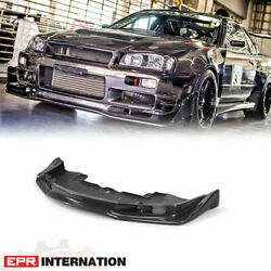 For Nissan Skyline R34 Gtr Carbon Fiber Tape As Front Bumper Lip With Undertray