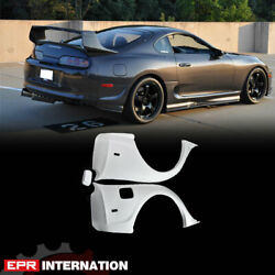 Frp Unpainted Rid Style For 93-98 Toyota Supra Mk4 Jza80 Rear Fender Mudguards