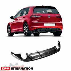 Oe Style Carbon Glossy For Volkswagen Golf 7 Gti Rear Bumper Diffuser Body Kit