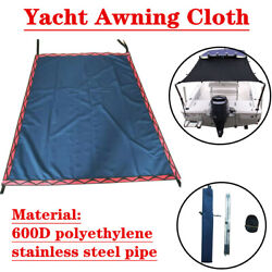 Universal Yacht Awning Cloth Boat Sun Shade Canopy Top 2stainless Steel Tube