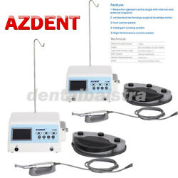 2 Set Azdent Dental Implant Surgical Brushless Motor+201 Contra Angle Handpiece