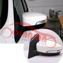 1pcs Left Exterior Mirror Assembly Pearl White 6 Wires For Ford Escape 2013-2019