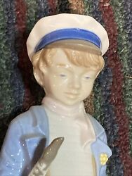 Very Rare Grafenthal Porcelain Figure 9.75 Inch Tall Boy With Flute