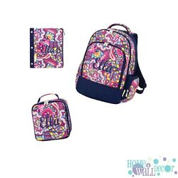 Personalized Backpack Boys Backpack Embroidered Kids Backpack and Lunch Box $19.95