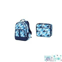 Personalized Backpack Boys Backpack Embroidered Kids Backpack and Lunch Box $24.95
