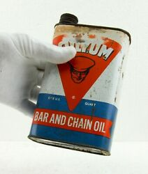 ⭐ L@@k ⭐ Vintage Oilzum Bar And Chain Oil Can With Original Cap