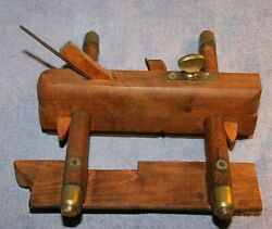 Antique Wood Skrew Combo Plane-dryburgh Dundee