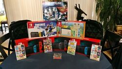 5 New Nintendo Switch Consoles Fortnite And Animal Crossing 6 Games 2 Zelda Bags +