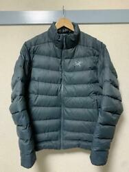 Arcand039teryx Size L Dark Navy Blue Down Jacket Used From Japan F/s
