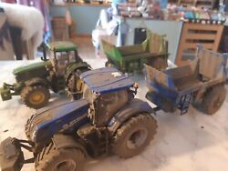 Britains Conversion Weathered New Holland T7.315 Tractor And Spreader Your Choice