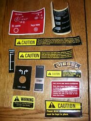 Vintage Ihc Farmall Advertising - Tractor / Assorted Implement Decals -12