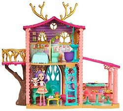 Enchantimals Frh50 Cosy House Playset With Danessa Deer Doll And Sprint Figur...